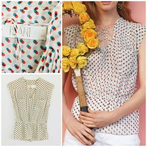 Anthropologie Isani Venn polka dot Blouse. 2